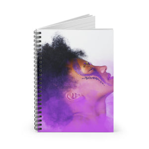 Purple Warrior Spiral Notebook - Ruled Line - Coach Rock
