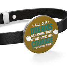 Load image into Gallery viewer, All our Dreams Can Come True Leather Bracelet - Coach Rock