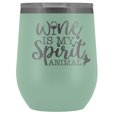Wine is My Spirit Animal Stemless Tumbler - Coach Rock