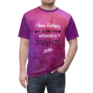 Epilepsy Fighter Full Color T-shirt - Coach Rock