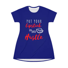 Load image into Gallery viewer, Put Your Lipstick on and Hustle T-shirt Dress - Coach Rock