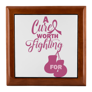 Breast Cancer, A Cure Worth Fighting Jewelry Box - Coach Rock