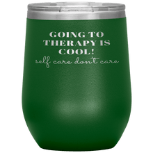 Load image into Gallery viewer, Going to Therapy is Cool Wine Tumbler - Coach Rock
