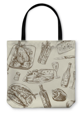Tote Bag, Pattern Food - Coach Rock