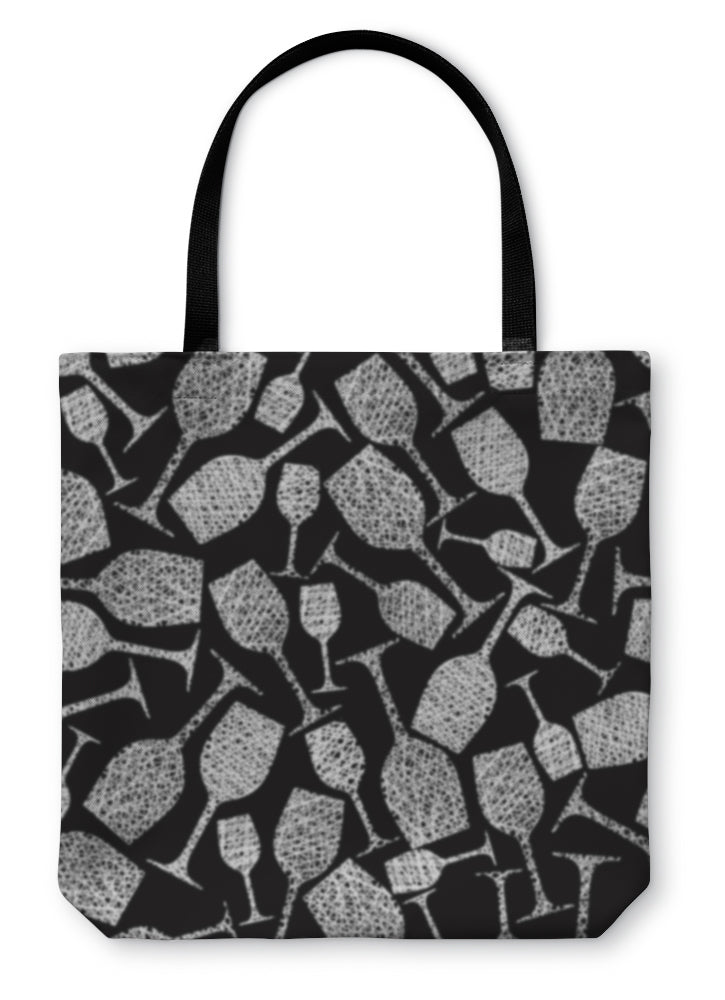 Tote Bag, Wine Glasses Pattern Winery Theme - Coach Rock