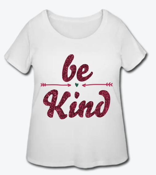 Be Kind Women's Women's Curvy T-Shirt - Coach Rock