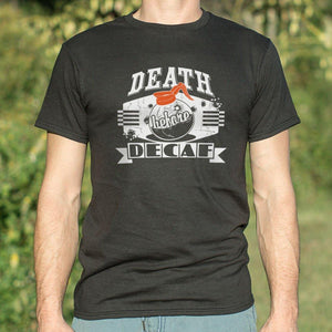 Death Before Decaf T-Shirt (Mens) - Coach Rock