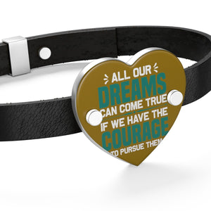 All our Dreams Can Come True Leather Bracelet - Coach Rock