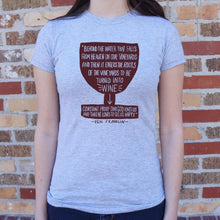 Load image into Gallery viewer, Benjamin Franklin Wine Quote T-Shirt (Ladies) - Coach Rock