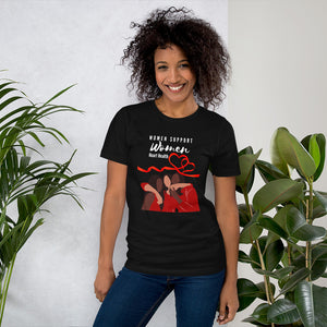 Women Support Women Heart Disease Awareness T-shrit - Coach Rock