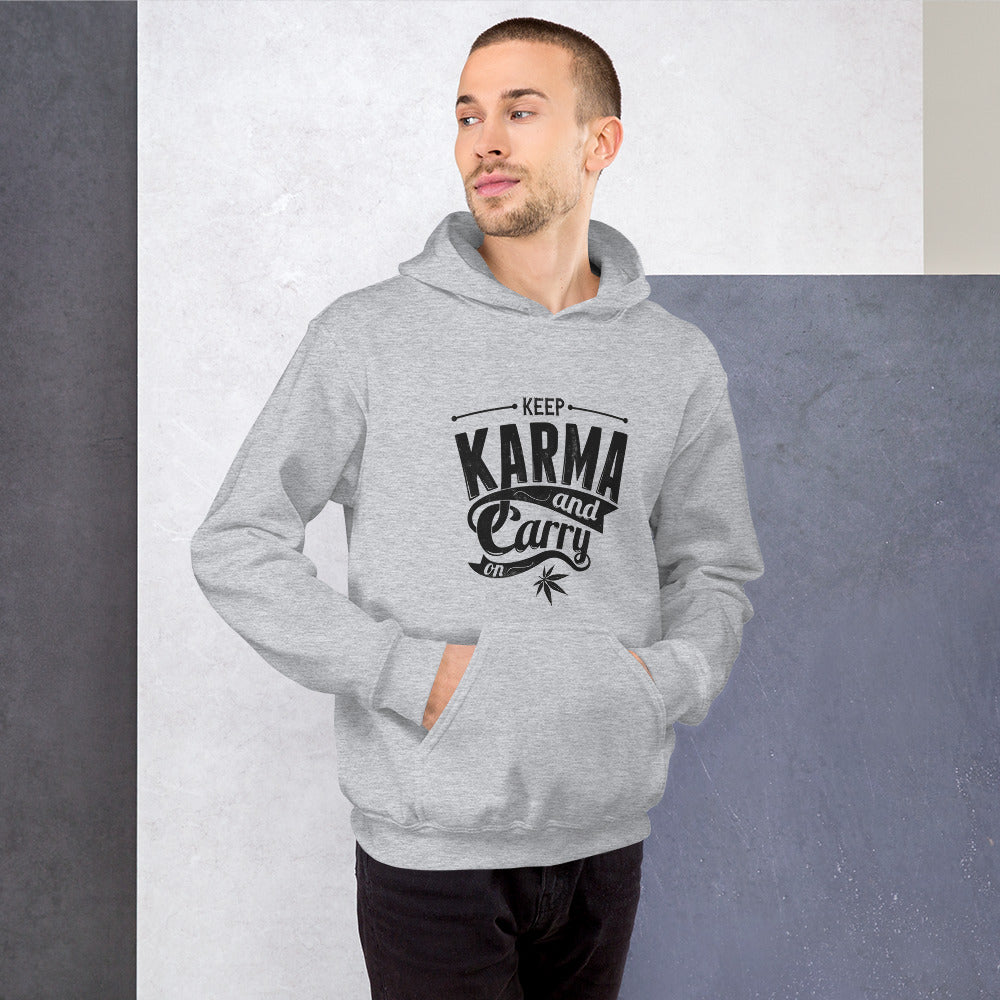 Keep Karma and Carry On Hooded Sweatshirt - Coach Rock