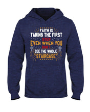 Load image into Gallery viewer, Faith is Taking the First Step Hoodie - Coach Rock
