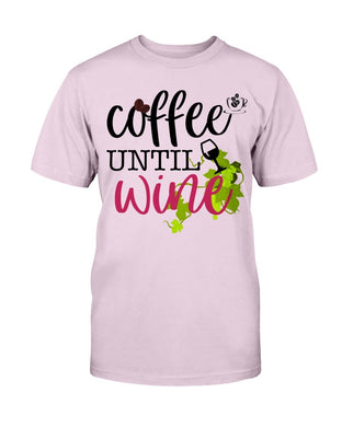 Coffee Until Wine Ladies T-Shirt - Coach Rock