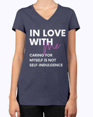 In Love with Me Ladies V-Neck T-Shirt - Coach Rock