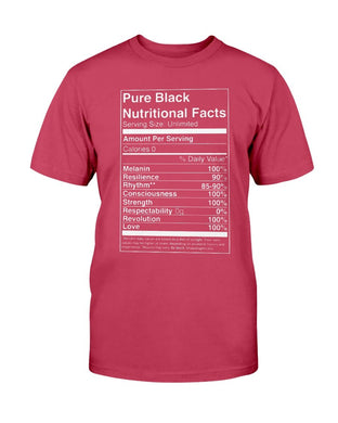 Pure Black Nutritional Facts T-Shirt - Coach Rock