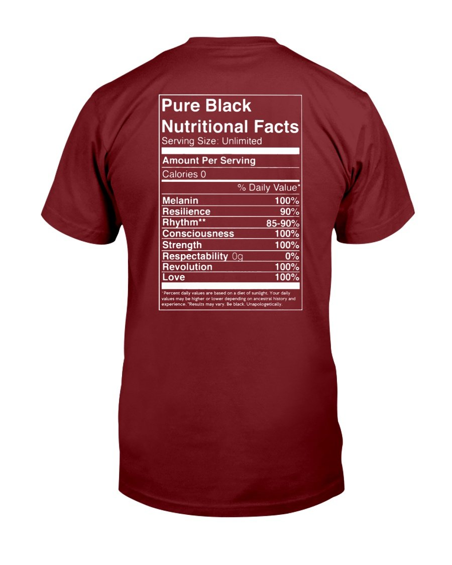 Melanin Black Nutrition Unisex T-Shirt - Coach Rock