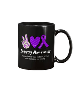 Epilepsy Peace Love & Awareness 11oz Mug - Coach Rock