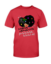 Load image into Gallery viewer, Deck The Halls Fro Lady T-Shirt - Coach Rock