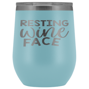 Resting Wine Face Stemless Wine Tumblers - Coach Rock
