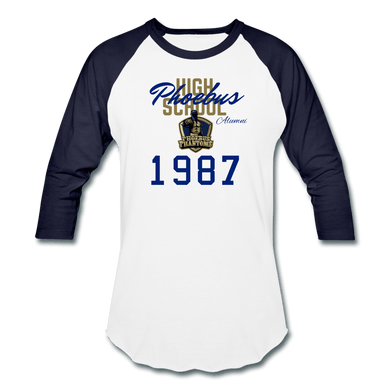1987 PHS Phantoms Alumni (UNISEX) Retro Baseball T-Shirt - Coach Rock