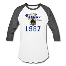 Load image into Gallery viewer, 1987 PHS Phantoms Alumni (UNISEX) Retro Baseball T-Shirt - Coach Rock