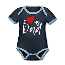 Load image into Gallery viewer, Organic Contrast Short Sleeve Baby Bodysuit - Coach Rock