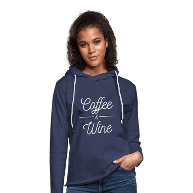 Coffee & Wine  Light Weight Terrycloth Hoodie (Unisex) - Coach Rock
