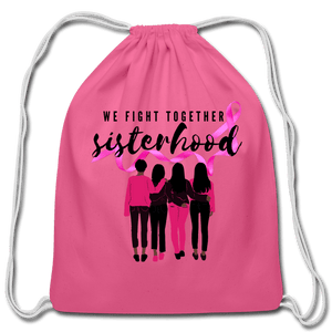 Breast Cancer We Fight Together Cotton Drawstring Bag - Coach Rock
