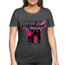 Load image into Gallery viewer, Breast Cancer We Fight Together Women's Curvy (Plus Size) Shirt - Coach Rock