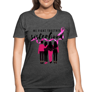 Breast Cancer We Fight Together Women's Curvy (Plus Size) Shirt - Coach Rock