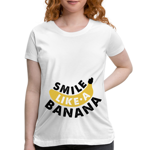 Smile LIke A Banana Women's Maternity T-Shirt - Coach Rock