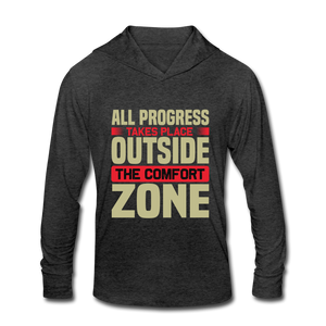 Outside the Comfort Zone Tri-Blend Hoodie Shirt - Coach Rock