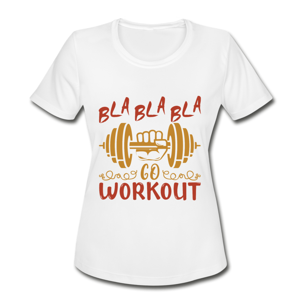 Bla Bla Bla Moisture Wicking Performance T-Shirt - Coach Rock