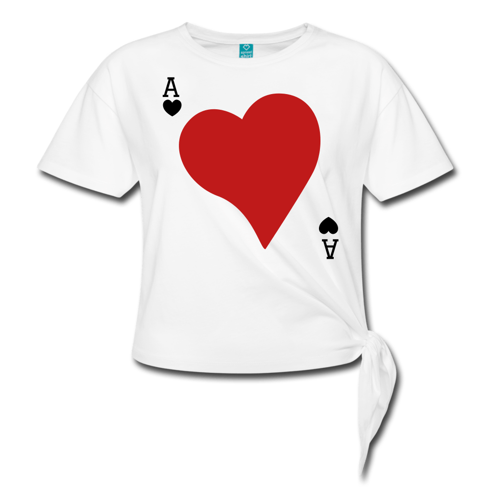 Ace of Hearts Women's Knotted T-Shirt - Coach Rock