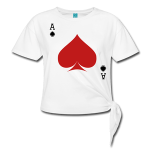 Ace of Spades Women's Knotted T-Shirt - Coach Rock