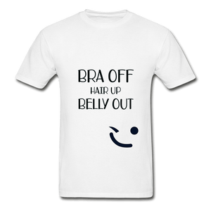 Bra Off Hair Up Belly Out Unisex T-Shirt - Coach Rock