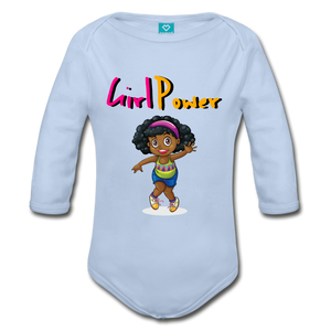 Girl Power Long Sleeve Baby Bodysuit - Coach Rock