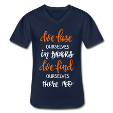 Load image into Gallery viewer, We Lose Ourselves in Books  V-Neck T-Shirt (Unisex) - Coach Rock