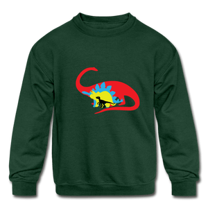 Boys Dinosaur Crewneck Sweatshirt - Coach Rock