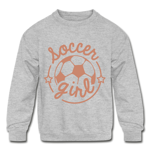 Soccer Girl Kids' Crewneck Sweatshirt - Coach Rock