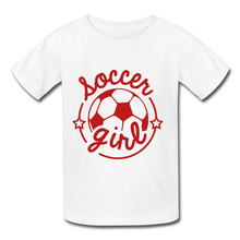 Load image into Gallery viewer, Soccer Girl Youth Tagless T-Shirt - Coach Rock