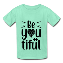 Load image into Gallery viewer, BeYOUtiful Autism Awareness Youth Tagless T-Shirt - Coach Rock