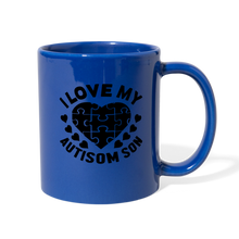 Load image into Gallery viewer, I Love My Autisom Son Blue Coffee Mug - Coach Rock