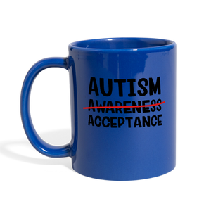 I Love My Autisom Son Blue Coffee Mug - Coach Rock