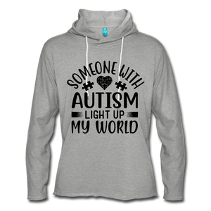 Someone With Autisim Light Up My World Hoodie - Coach Rock