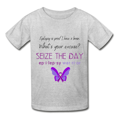 Epilepsy Warrior Seize The Day Youth T-shirt - Coach Rock