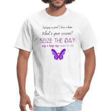 Load image into Gallery viewer, Epilepsy Warrior Seize The Day T-Shirt - Coach Rock
