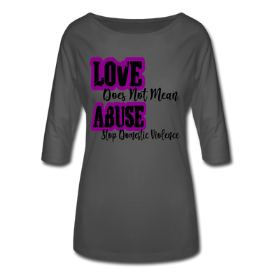 Love Does Not Mean Abuse Women's 3/4 Sleeve Shirt - Coach Rock