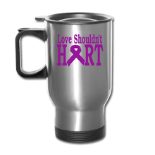 Load image into Gallery viewer, Domestic Violence Awareness, Love Shouldn't Hurt Travel Mug - Coach Rock