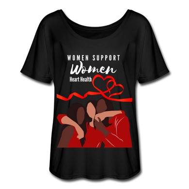 Women Support Women, Heart Health Women's Flowy T-Shirt - Coach Rock